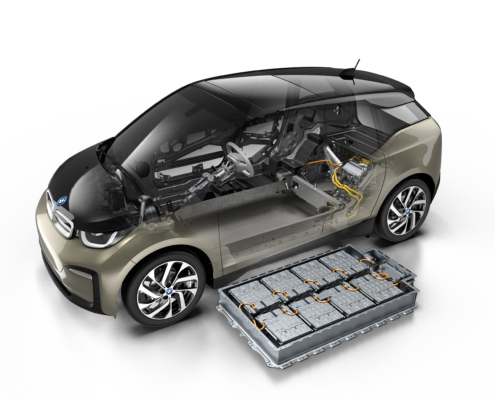 Electric vehicle applications for custom BMW i3 battery pack integration