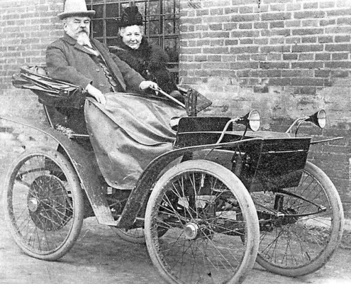 First electric vehicle developed by Andreas Flocken