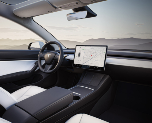 Tesla Model 3 interior sourced from Tesla