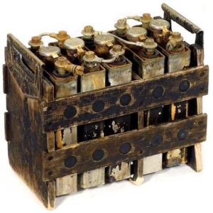Nickel-iron alkaline storage battery from Thomas Edison